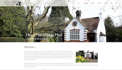 Sennett-Media-horn-hill-village-hall-website-sample